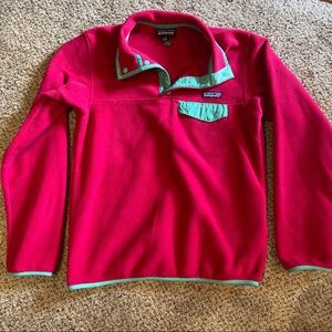 Patagonia Synchilla Fleece Snap T Pullover Pink